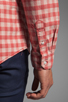Image 7 of life/after/denim North Beach Soma Check Shirt in Coral
