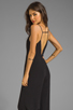 Image 1 of Line & Dot Deep V Jumpsuit in Black