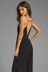 Image 1 of Line & Dot Deep V Jumpsuit in Black