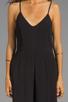 Image 5 of Line & Dot Deep V Jumpsuit in Black