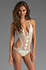 Image 1 of Lisa Maree Birthday Blues Crochet One Piece in Cream