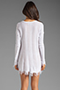 Image 5 of Lauren Moshi Gretta Color Bow Sweater Dress in White