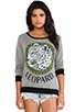 Image 1 of Lauren Moshi Raina Color Leopard Medallion Sweater in Grey/Black
