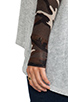 Image 5 of Lauren Moshi Deb Skull Face Contrast Cuff Asymmetrical Sweater in Heather Grey/Camo