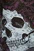 Image 4 of Lauren Moshi Audrey Color Skull with Rose Scoop Tee in Heather Grey