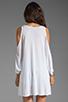 Image 2 of Lauren Moshi Macy Foil Royal Horse Open Shoulder Top in White
