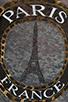 Image 4 of Lauren Moshi Audrey Foil Paris Scoop Tee in Heather Grey