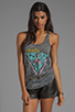 Image 1 of Lauren Moshi Nancy Color Miami Beach Swing Tank in Heather Grey