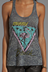Image 3 of Lauren Moshi Nancy Color Miami Beach Swing Tank in Heather Grey