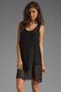 Image 1 of LNA Sherwood Tank Dress in Black