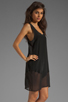 Image 3 of LNA Sherwood Tank Dress in Black