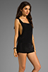 Image 3 of LNA Madison Overalls in Black