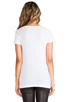 Image 3 of LNA Deep V Tee in White