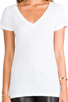 Image 4 of LNA Deep V Tee in White