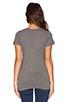 Image 3 of LNA Short Sleeve Deep V Tee in Heather Grey