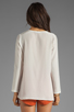 Image 2 of LNA Owen Blouse in Ivory