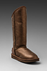 Image 1 of Australia Luxe Collective Cosy Tall Vintage Metallic Boot in Bronze