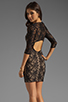 Image 1 of Lovers + Friends Sway Dress in Black Lace