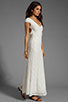 Image 3 of Lovers + Friends Vanity Fair Dress in White Stretch