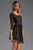 Image 3 of Lovers + Friends Senorita Mini Dress in Black Lace
