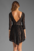 Image 4 of Lovers + Friends Senorita Mini Dress in Black Lace