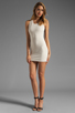 Image 2 of Lovers + Friends Shooting Stars Dress in Cream/Black Faux Leather