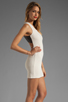 Image 3 of Lovers + Friends Shooting Stars Dress in Cream/Black Faux Leather