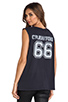 Image 1 of Lovers + Friends for REVOLVE Crawford Muscle Tee in Vintage Black