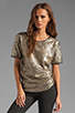 Image 1 of Lovers + Friends Chic Top in Bronze Sequin