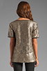 Image 2 of Lovers + Friends Chic Top in Bronze Sequin