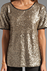Image 3 of Lovers + Friends Chic Top in Bronze Sequin