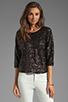 Image 1 of Lovers + Friends Intuition Blouse in Black Sequin