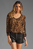 Image 1 of Lovers + Friends Daydream Blouse in Leopard Burnout
