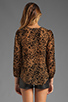 Image 2 of Lovers + Friends Daydream Blouse in Leopard Burnout