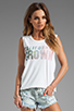 Image 1 of Lovers + Friends California Grown Graphic Tank in White