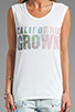 Image 3 of Lovers + Friends California Grown Graphic Tank in White