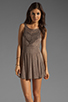 Image 1 of L*SPACE Spirit Mini Dress in Taupe