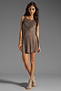 Image 2 of L*SPACE Spirit Mini Dress in Taupe