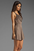 Image 3 of L*SPACE Spirit Mini Dress in Taupe