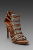 Image 1 of Luxury Rebel West Heel in Latte/Natural Buff