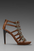 Image 2 of Luxury Rebel West Heel in Latte/Natural Buff