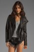 Image 1 of Mackage Tribeca Classic Leather Jacket in Black