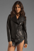 Image 2 of Mackage Tribeca Classic Leather Jacket in Black