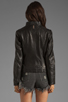 Image 3 of Mackage Tribeca Classic Leather Jacket in Black