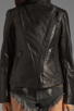 Image 4 of Mackage Tribeca Classic Leather Jacket in Black