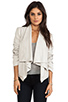 Image 1 of Mackage Rihane Shiny Suede Jacket in Bone