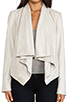 Image 4 of Mackage Rihane Shiny Suede Jacket in Bone