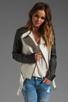 Image 1 of Mackage Belle Distressed Leather Jacket in Bone