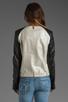 Image 3 of Mackage Belle Distressed Leather Jacket in Bone