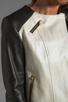 Image 5 of Mackage Belle Distressed Leather Jacket in Bone